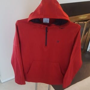 Champion Pullover Quarter Zip Lined Hoodie XL